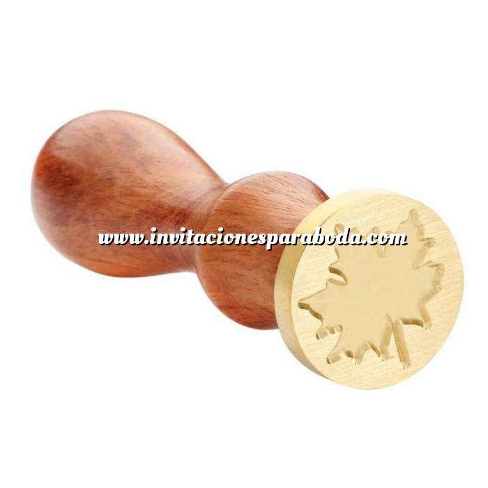 Imagen Símbolos Sello lacre mango largo - HOJAS MOD5 - Arce (Últimas Unidades)