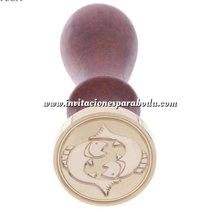 Imagen Símbolos Sello lacre mango largo - SIGNOS DEL ZODIACO 2 - Piscis(Últimas Unidades)