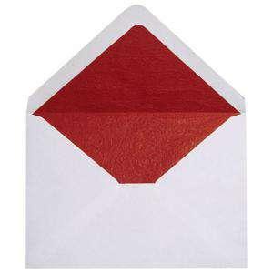 Sobres Forrados - Sobre blanco c5 forro fantasía rojo (Últimas Unidades)