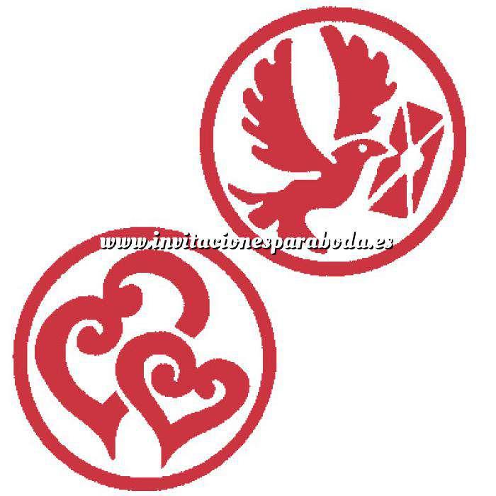 Imagen 2 Iniciales Intercambiables Placa para Sello vacío Corazón Doble Espiral/ Paloma (71202)