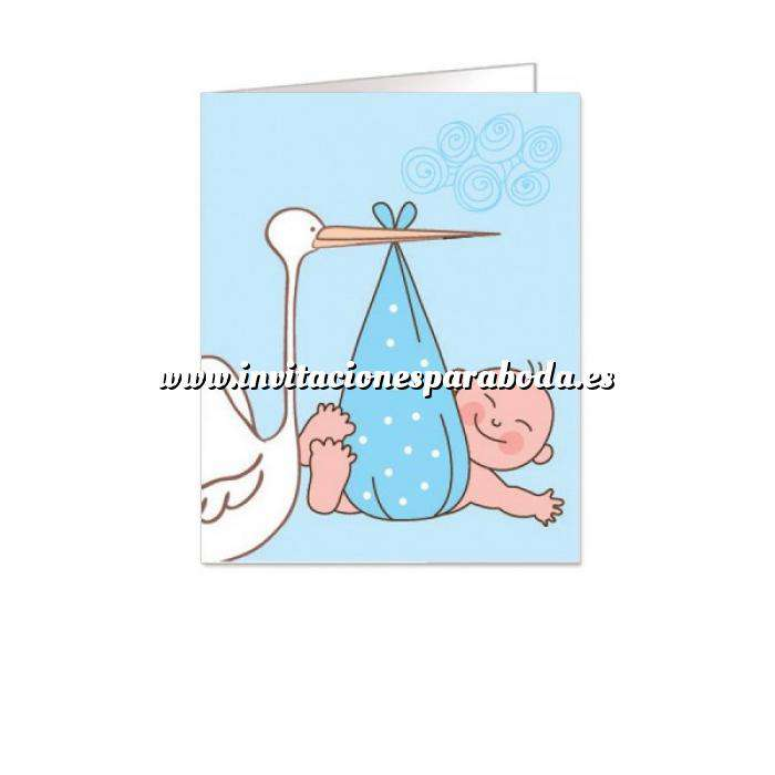 Imagen Etiquetas sin impresión Lámina con 18 Etiquetas con diseño de BAUTIZO NIÑO - Para personalizar a mano (Últimas unidades)