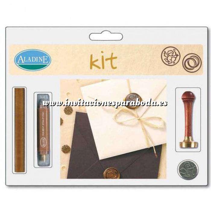 Imagen Kits de sellos de lacre KIT LACRE BODA ANILLOS-CUPIDO