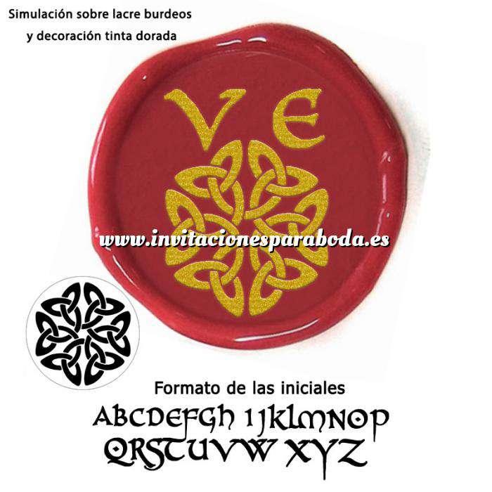 Imagen Personalizado con TU diseño Sello Lacre 2.5 cms. Iniciales celtas
