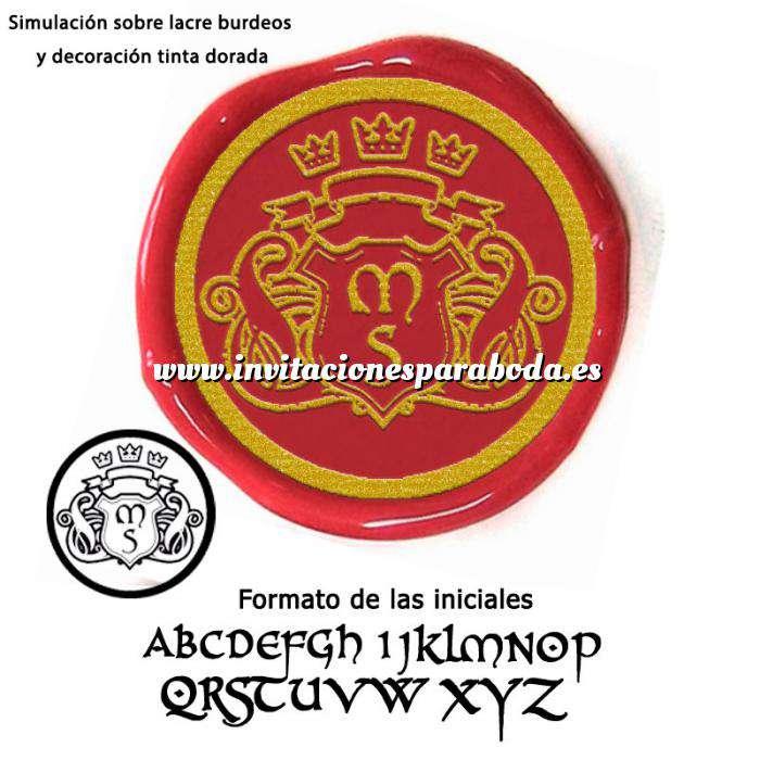 Imagen Personalizado con TU diseño Sello Lacre 3 cms. Escudo con iniciales