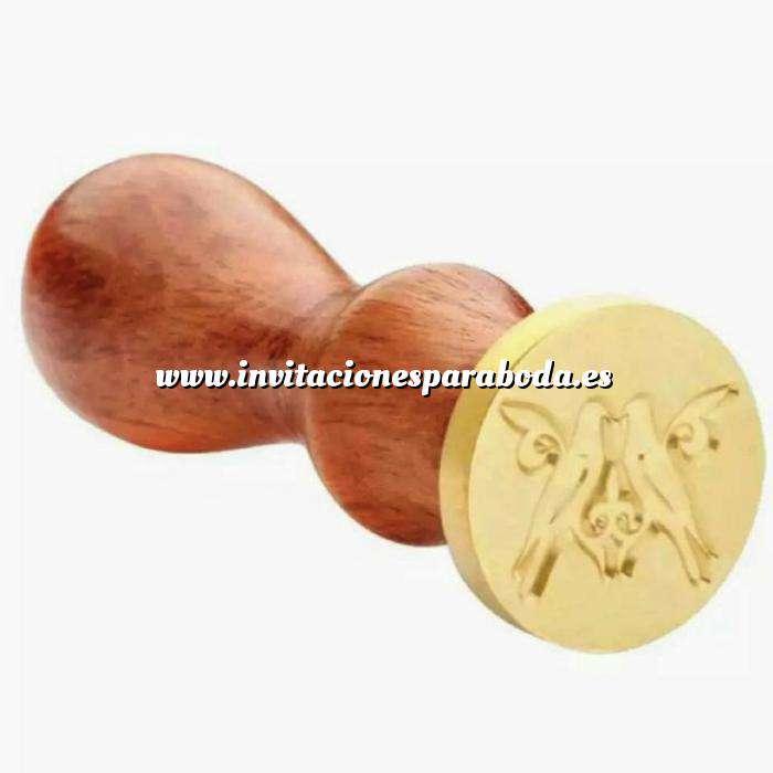 Imagen Símbolos Sello lacre mango largo - BODAS - Dos Palomas (Últimas Unidades)