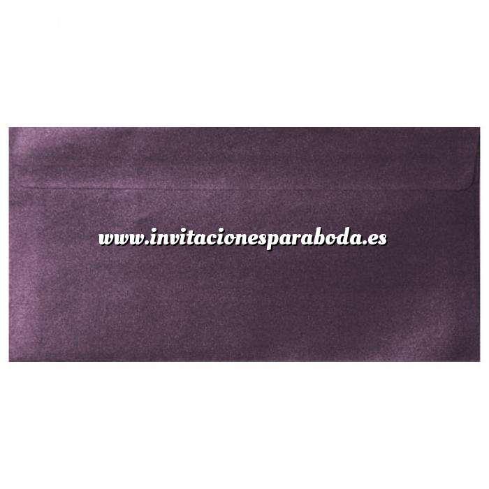 Imagen Sobre Americano DL 110x220 Sobre Perlado Berenjena DL