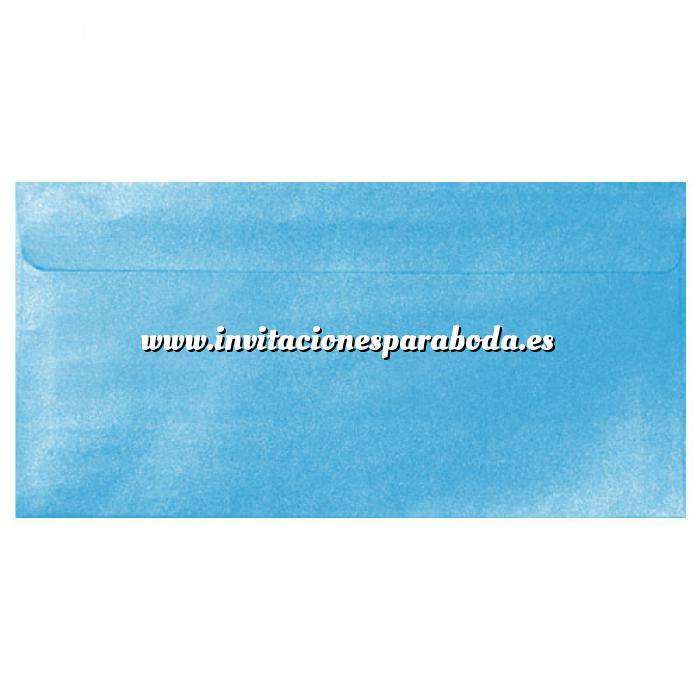 Imagen Sobre Americano DL 110x220 Sobre Perlado celeste DL (Azul Bebé)