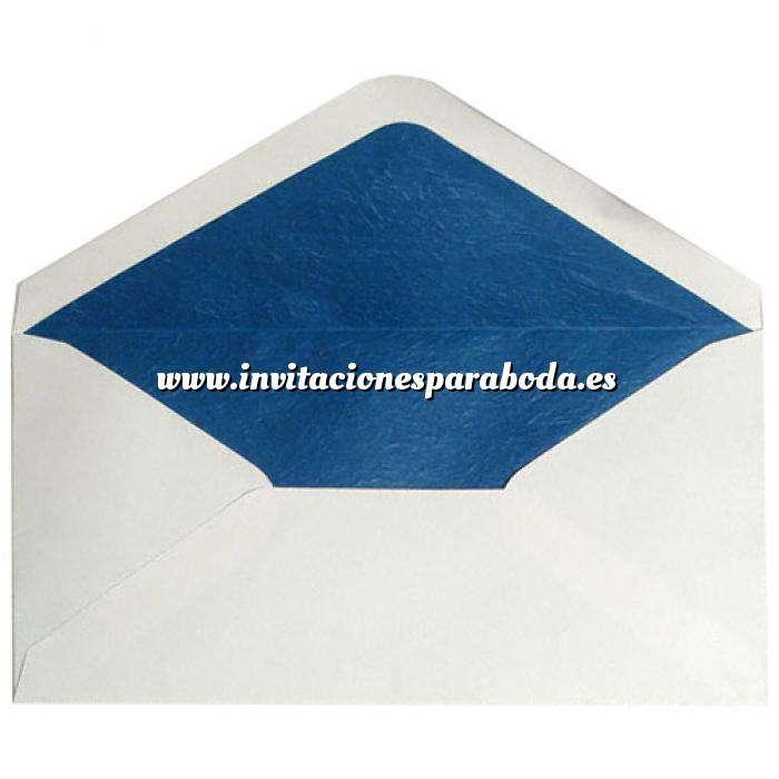 Imagen Sobres Forrados Sobre Beige DL forro fantasía azul (Últimas Unidades)