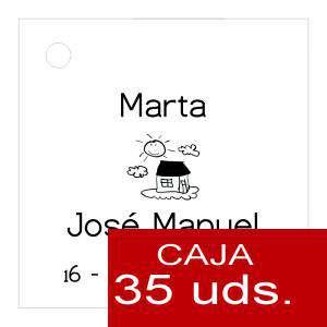 Etiquetas impresas - Etiqueta Modelo A06 (Paquete de 35 etiquetas 4x4)
