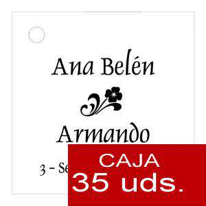 Etiquetas impresas - Etiqueta Modelo B03 (Paquete de 35 etiquetas 4x4)