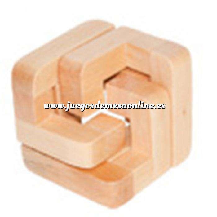 Imagen De madera Rompecabezas Medio Cubo