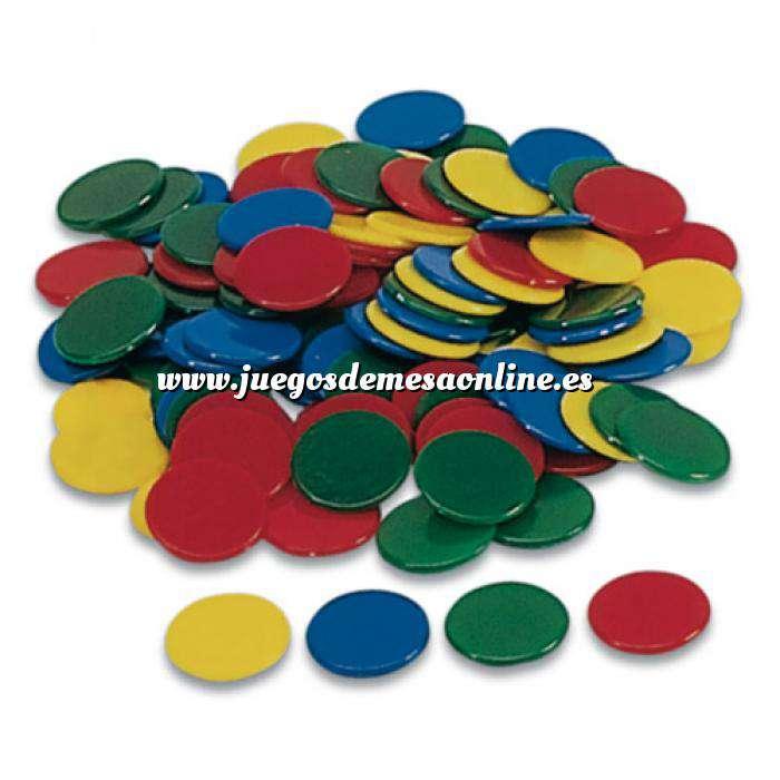 Imagen Fichas Bolsa 100 fichas de colores 18 mm (Últimas Unidades)