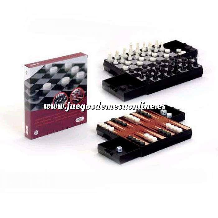 Imagen Magnéticos Pack Ajedrez - Damas y Backgammon Magnético