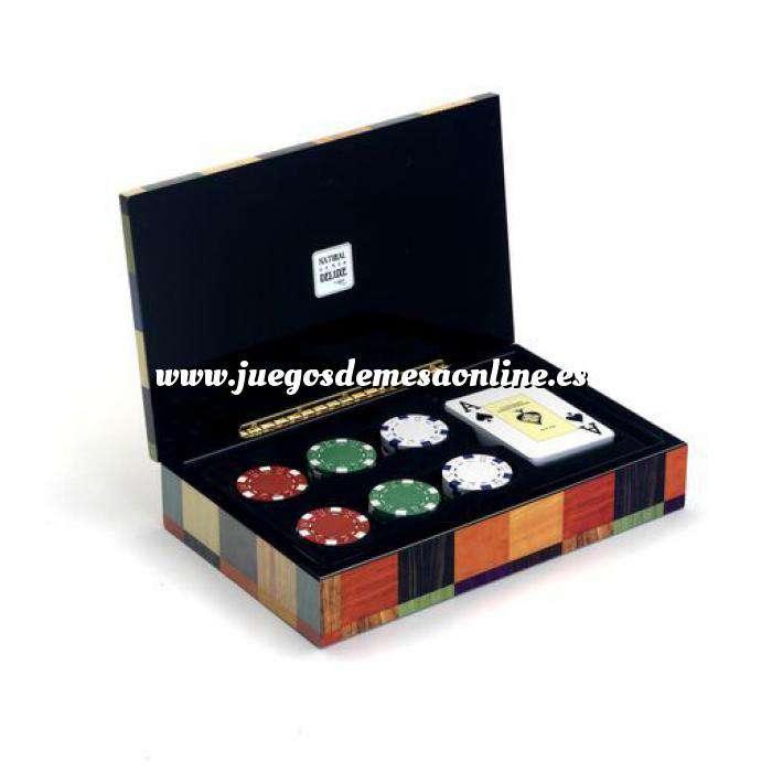 Imagen Maletines Poker Baraja de cartas Poker y 60 Fichas 11.5 g.