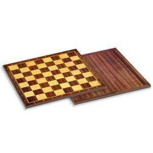 Ajedrez y damas - Tablero ajedrez madera. 33X33 cm