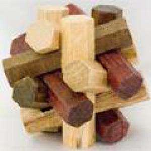 De madera - Esfera hexagonos