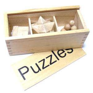 De madera - Set 3 juegos de madera - PUZZLES
