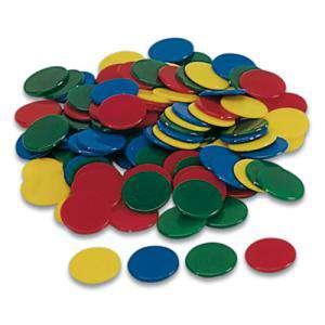 Fichas - Bolsa 100 fichas de colores 25 mm (Últimas Unidades)