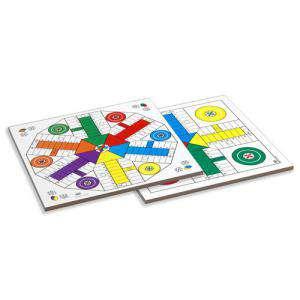 Parchís y Oca - Tablero parchís 4 y 6 jugadores con fichas y dados. 40x40 cm