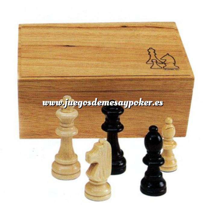 Imagen Ajedrez y damas Fichas de ajedrez madera grandes