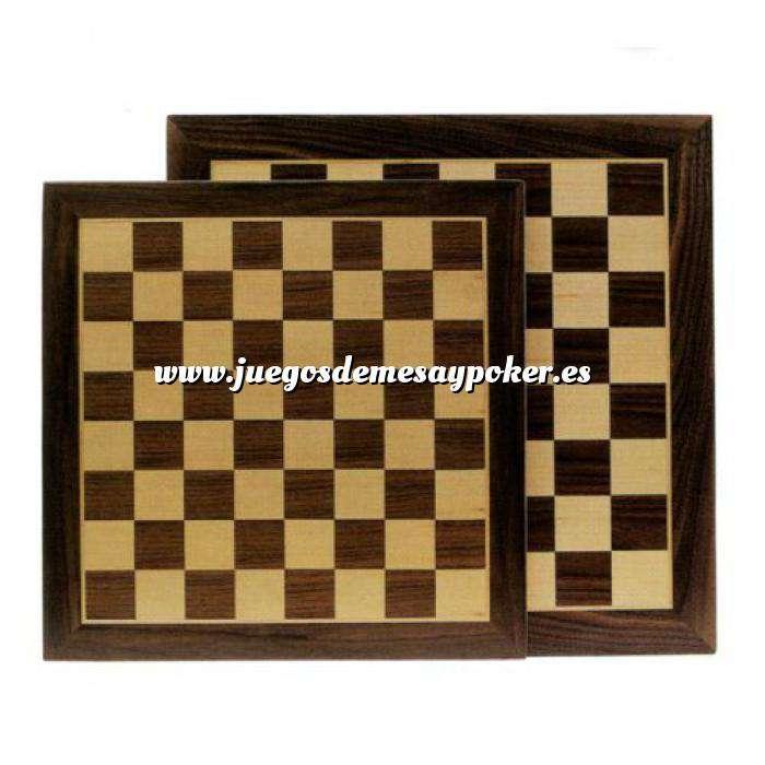 Imagen Ajedrez y damas Tablero ajedrez marquetería 40x40 cm