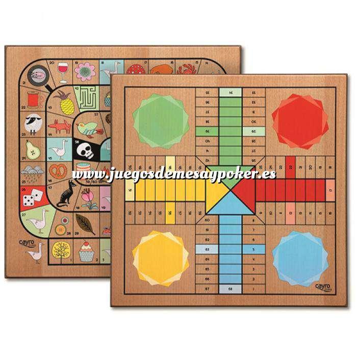 Imagen Parchís y Oca Tablero Parchís y Oca madera 33X33 cm Deluxe