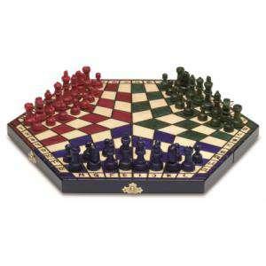 Ajedrez y damas - Ajedrez 3 jugadores Plegable