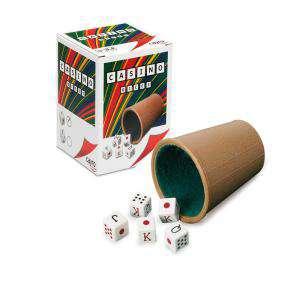 Dados - Cubilete forrado y dados de poker