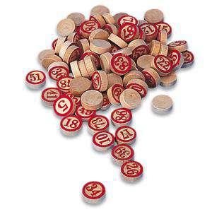 Otros juegos y Casino - Fichas de madera una cara