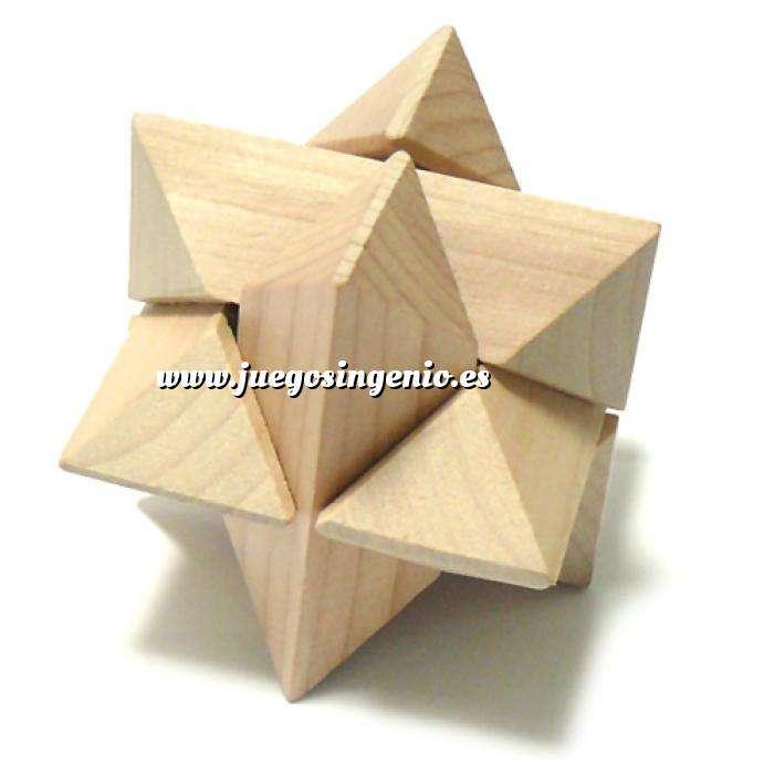 Imagen De madera Puzzle estrella