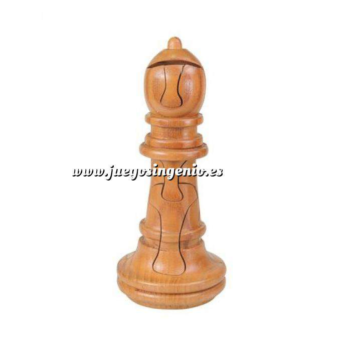 Imagen De madera Puzzle madera Alfil Ajedrez Gigante