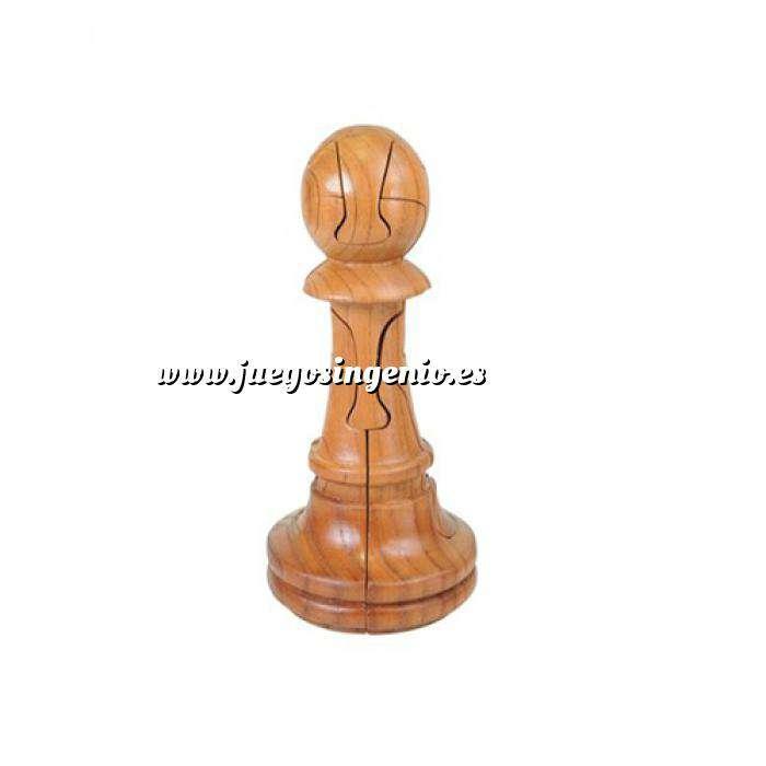 Imagen De madera Puzzle madera Peón Ajedrez Gigante