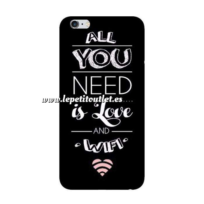 Imagen Fundas para móvil Funda de móvil: All you need is love and wifi.