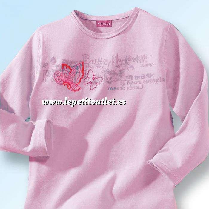 Imagen NIÑOS Camiseta niña manga larga Rosa Talla 86 (Ref.015800) (Últimas Unidades)