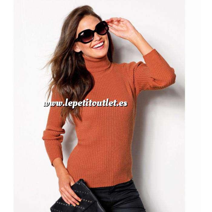 Imagen Talla 38-40 (S) Jersey de tricot con cuello cisne Color calabaza Talla 34 (Ref.056970) (Últimas Unidades)