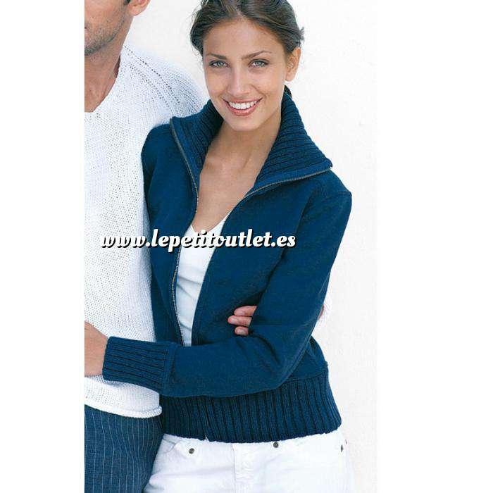 Imagen Talla 42-44 (M) Chaqueta mujer Felpa con cremallera Azul Talla 42 (Ref.014763) (Últimas Unidades)