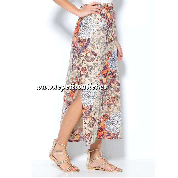 Imagen Talla 43-46 (XL) Falda larga estampada flores Talla 44 (Ref.008707) (Últimas Unidades)