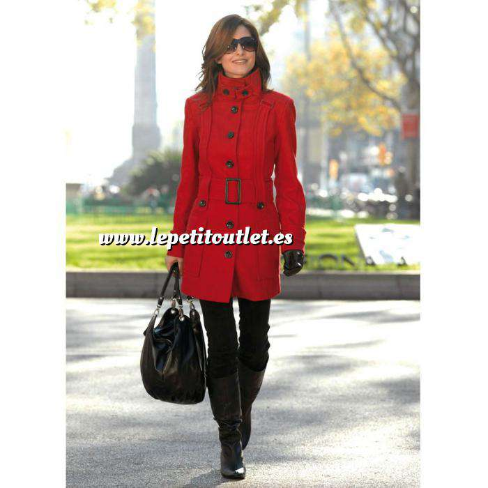 Imagen Talla 46-48 (L) Abrigo manga larga con cinturón Color rojo Talla 46-48 (Ref.032420) (Últimas Unidades)
