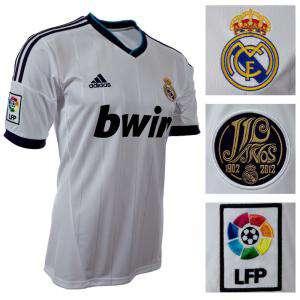 Camiseta Real Madrid - Camiseta Oficial Adidas del 110 aniversario del Real Madrid - Talla L Blanca