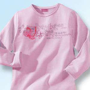 NIÑOS - Camiseta niña manga larga Rosa Talla 86 (Ref.015800) (Últimas Unidades)