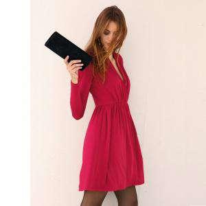 Talla 40-42 (L) - Vestido de manga larga Rojo Talla L (Ref.051880) (Últimas Unidades)