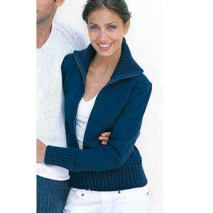 Talla 42-44 (M) - Chaqueta mujer Felpa con cremallera Azul Talla 42 (Ref.014763) (Últimas Unidades)
