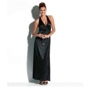 Talla 46+ (XXL) - Vestido largo de fiesta Color negro Talla 46-48 (Ref.041691) (Últimas Unidades)