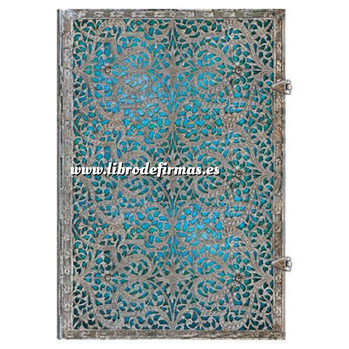Imagen Medieval Libro de Firmas Azul Maya Grande
