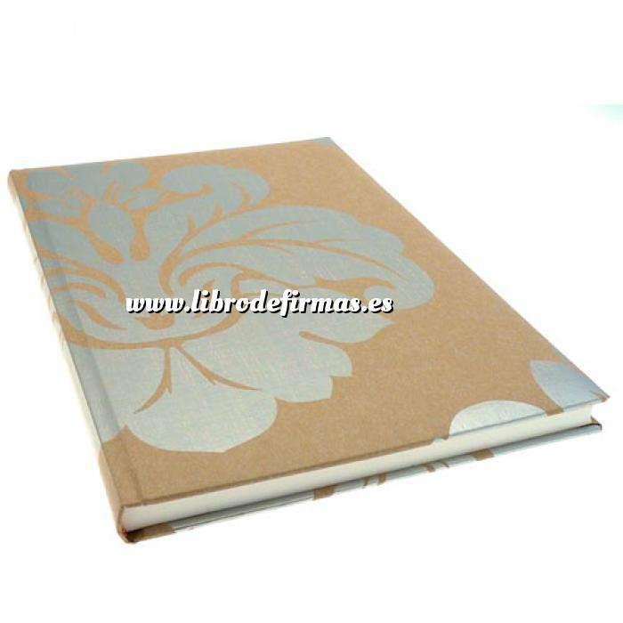 Imagen Textura Libro de Firmas FLOR plata