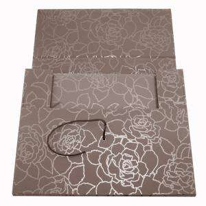 Clásicos - Libro de firmas apaisado Rosas Gris más maletín (POR ENCARGO - NO STOCK) (Últimas Unidades)