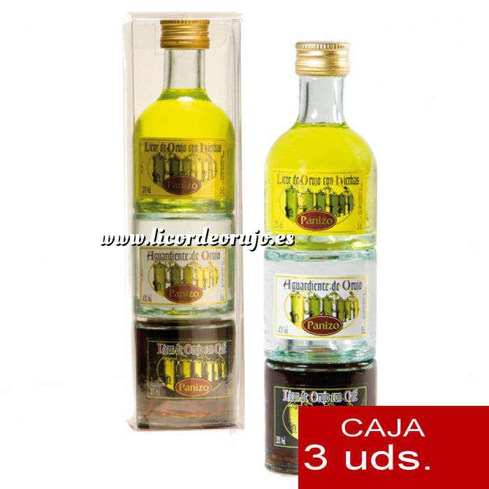 Imagen Licores, Orujos y Crema Triple Orujo de hierbas, Aguardiente de Orujo y Cafe Panizo 5cl