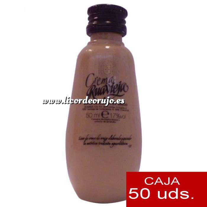 Imagen Licores, orujos y crema Crema de Orujo Ruavieja 5cl CAJA DE 50 UDS (OFERTA LIMITADA)