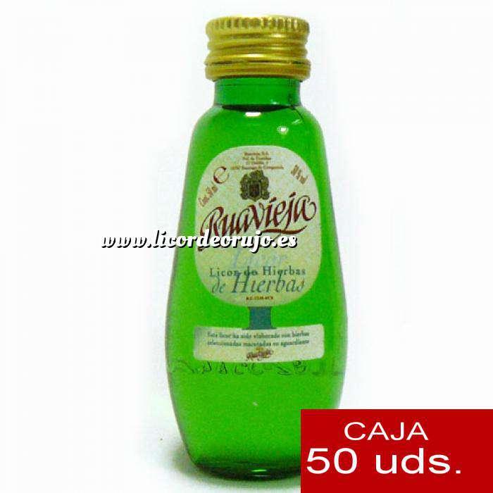 Imagen Licores, orujos y crema Orujo de hierbas Ruavieja 5cl CAJA DE 50 UDS