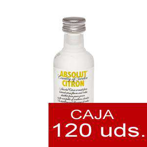 Vodka - Vodka Absolut Citron 5cl CAJA DE 120 UDS